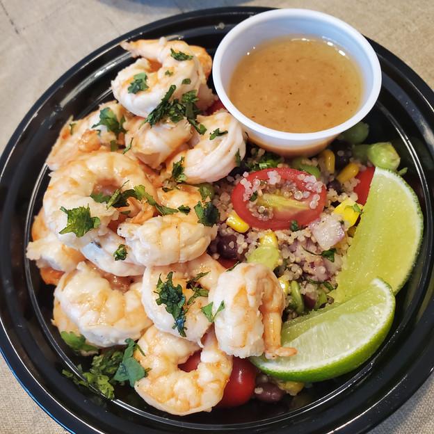 Garlic Honey Lime Shrimp with Cilantro Lime Quinoa Salad
