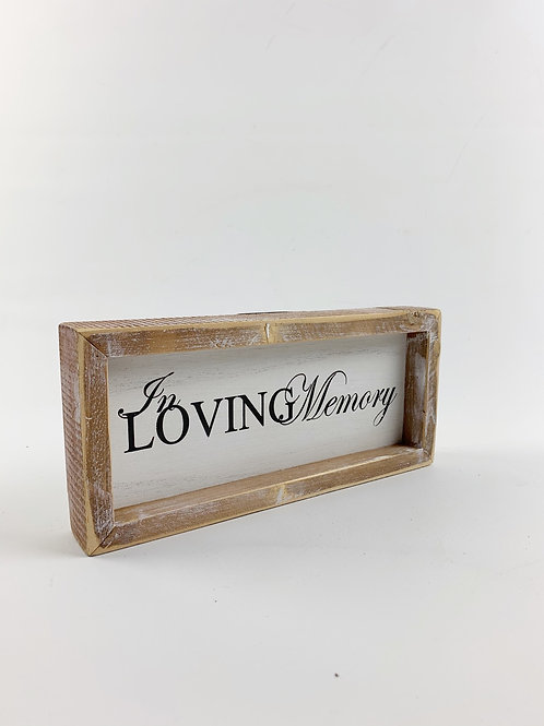 "Wood Plaque ""In Loving Memory"""