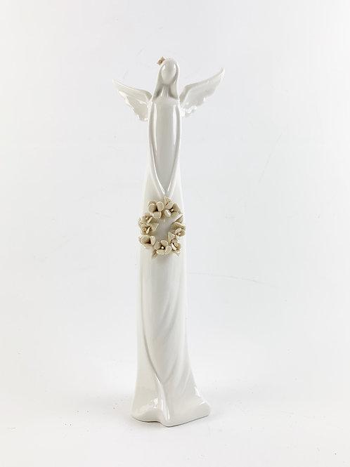 Ceramic Angel with Wreath