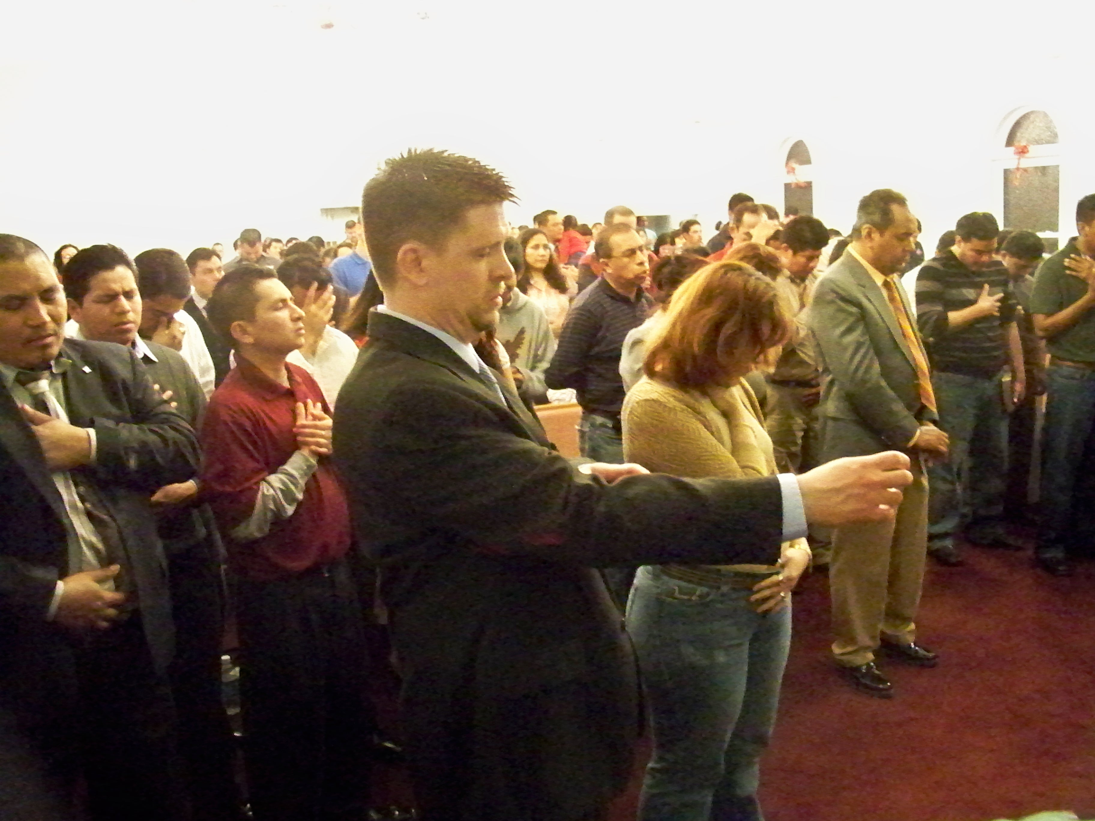 expectant guests at Max Navarro ministry