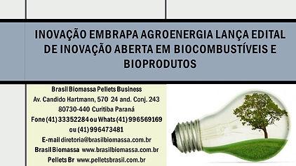 Inovação Embrapa Agroenergia lança edita
