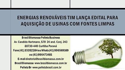 Energias Renováveis TIM lança edital par