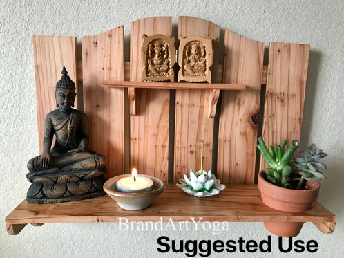 This Personal Meditation Altar Is Perfect For Those Living In Small Areas;  It Will Raise That Special Place To Accommodate Your Personal Devotional  Items.