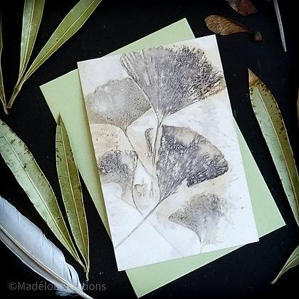 Carte Eco Print