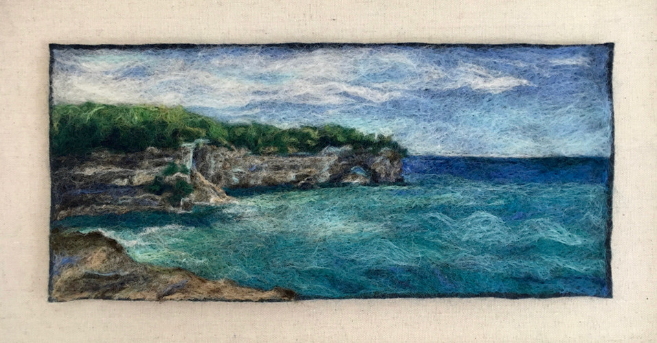 """Grand Portal Point, Pictured Rocks - 6.5x15"""""""