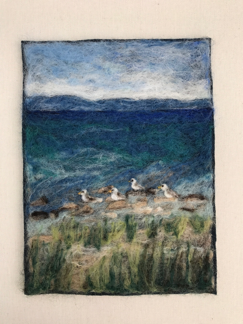 """Seagulls in the Bay - 10x7"""""""