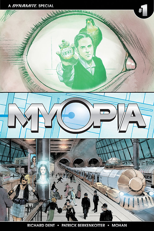 11x17 Myopia Issue 1 Variant Cover Poster, Signed by Richard Dent