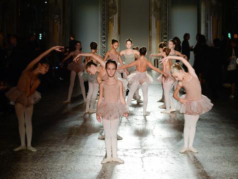 Le nostre piccole ballerine alla sfilata della stilista Uma Wang per la Milano Fashion Week
