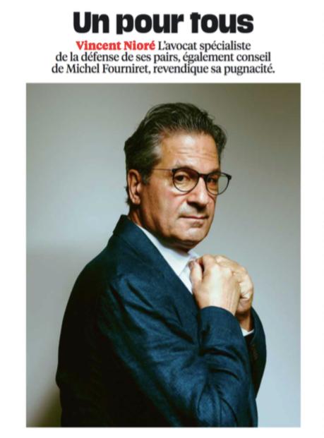 """""""Un pour tous"""", Portrait de Vincent Nioré, Libération"""