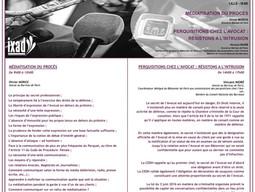 """Intervention """"Perquisitions chez l'avocat : Résistons à l'intrusion"""", IXAD, Lille"""