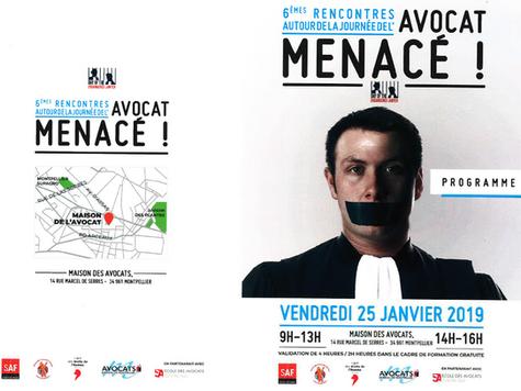 Intervention lors de la journée de l'avocat menacé, Maison des Avocats de Montpellier
