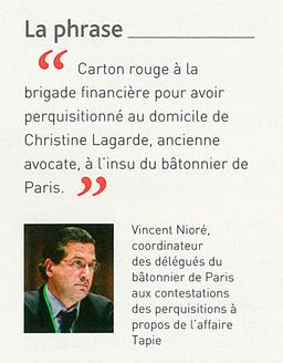 """""""Carton rouge à la brigade financière"""", Gazette du Palais"""