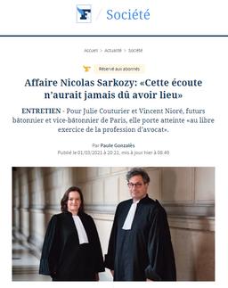 """""""Affaire Nicolas Sarkozy : Cette écoute n'aurait jamais dû avoir lieu"""", Interview, Le Figaro."""