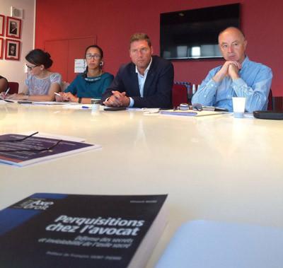 Avec la participation de :  Bâtonniers Jean-Michel CALVAR, Philippe JOYEUX, Jacques DEMAY et la Conférence des bâtonniers pour la région OUEST.