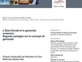 """""""L'Etat d'Israël et le génocide arménien. Regards partagés sur le concept de génocide&q"""