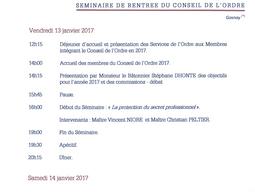 """Intervention lors du séminaire de rentrée du Conseil de l'Ordre du Barreau de Lille """"La pro"""