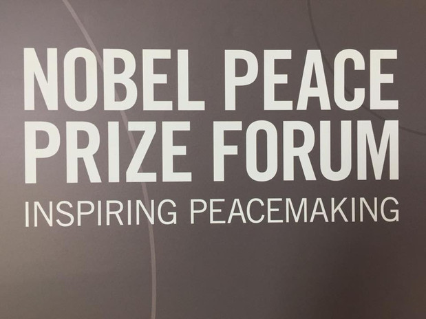 Cecile Houel attended the 2018 Nobel Peace Prize Forum in Augsburg University, Minneapolis