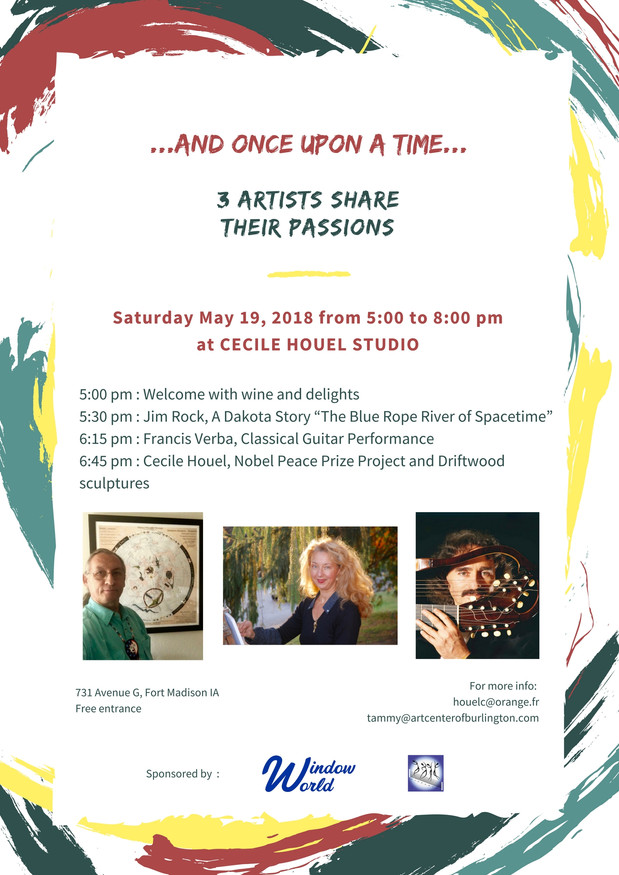 """""""And once upon a time... 3 Artists share their passions"""" at Cecile Houel Studio"""