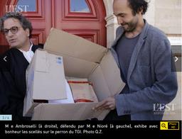 Restitution des objets saisis chez Maître Etienne Ambroselli