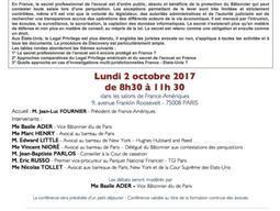 """Participation à la conférence """"Legal Privilege et Secret Professionnel des avocats, regards cro"""