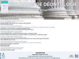 """25 octobre 2018 : Intervention sur """"la déontologie au pénal les perquisitions en cabinet"""","""