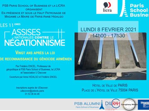 Participation aux 11èmes Assises nationales contre le négationnisme, Hôtel de Ville de Paris