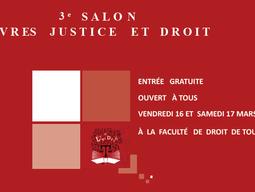 """Participation au 3ème salon """"Livres Justice et Droit"""", 16 et 17 mars 2018"""