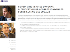 "Animation de l'atelier ""Perquisitions chez l'avocat"", Convention Nationale des Avo"