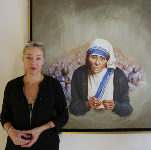 """""""A French-American artist decided to paint portraits of a dozen Nobel Peace Prize winners"""""""