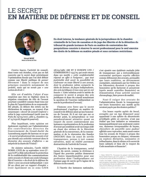 """""""Le secret en matière de défense et de conseil"""", Revue Maître numéro spécial"""