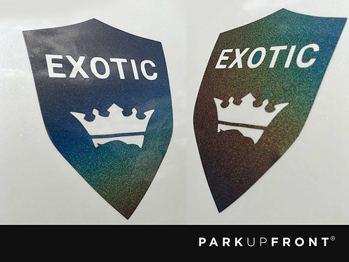 Small LUXURY Class Badges Decal