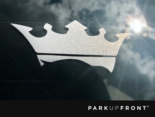 Large PUF Crown Only Decal