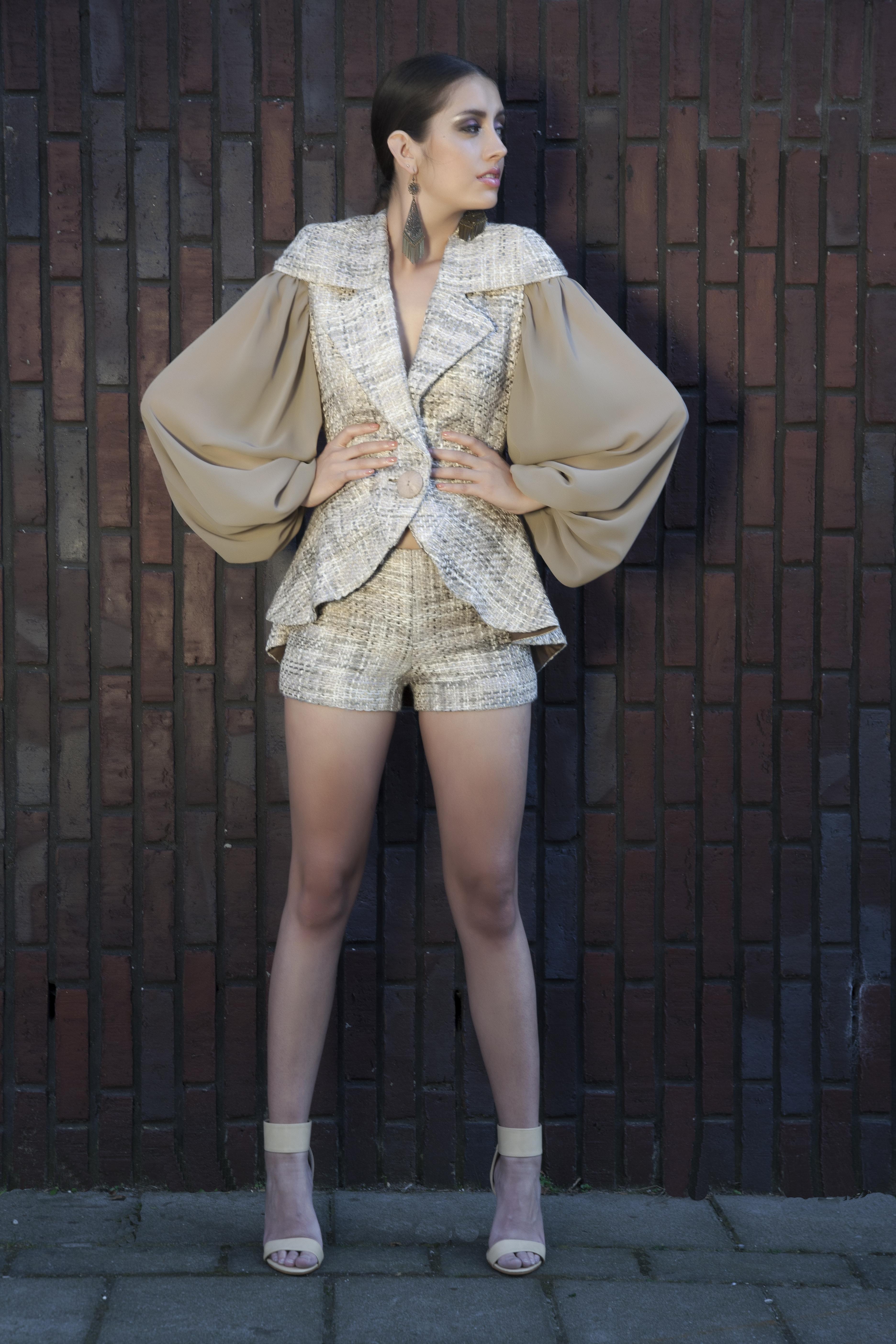 Pakje van zijde tweed
