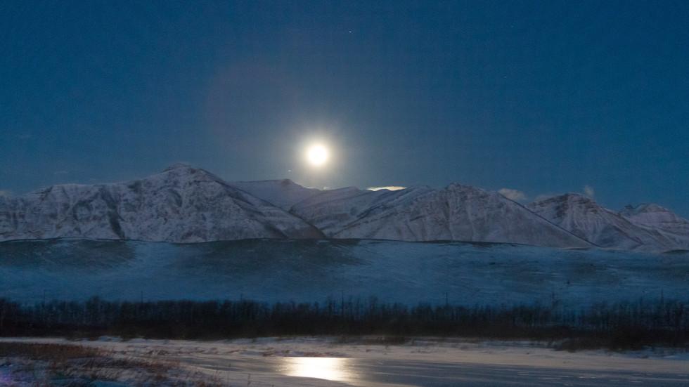 Super Snow Moon, Waterton