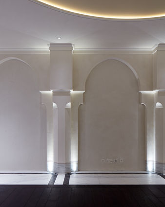 Fibrous Plaster GRG Arches, Columns and Ceiling Dome