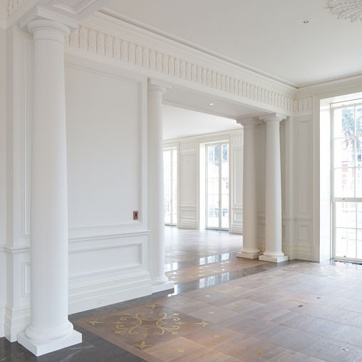 Fibrous Plaster Cornices, Friezes, Columns and Wall Panel Mouldings