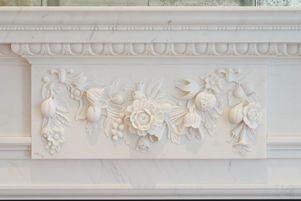 Bespoke Fibrous Plaster Fireplace Moulding