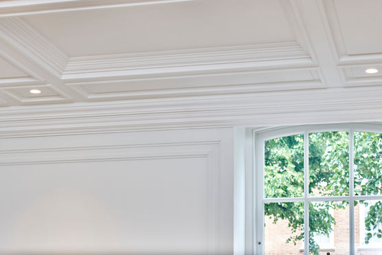 Fibrous Plaster GRG Coffered Ceiling