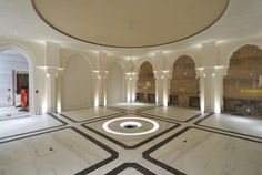 Fibrous Plaster GRG Arches, Columns, Dome and Lighting Troughs
