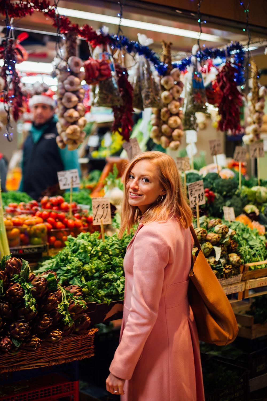 Stephanie at Vegetable Market
