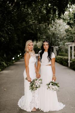 natalie and Bree wedding Westlake Villag