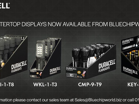 Duracell Flashlights counter top displays now available