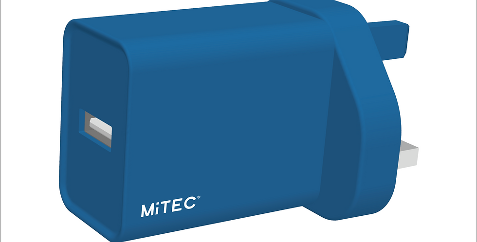 Style Midnight Blue Universal USB Mains Charger