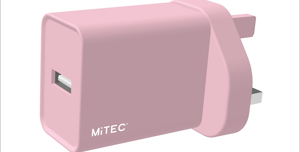 Style Blossom Pink Universal USB Mains Charger