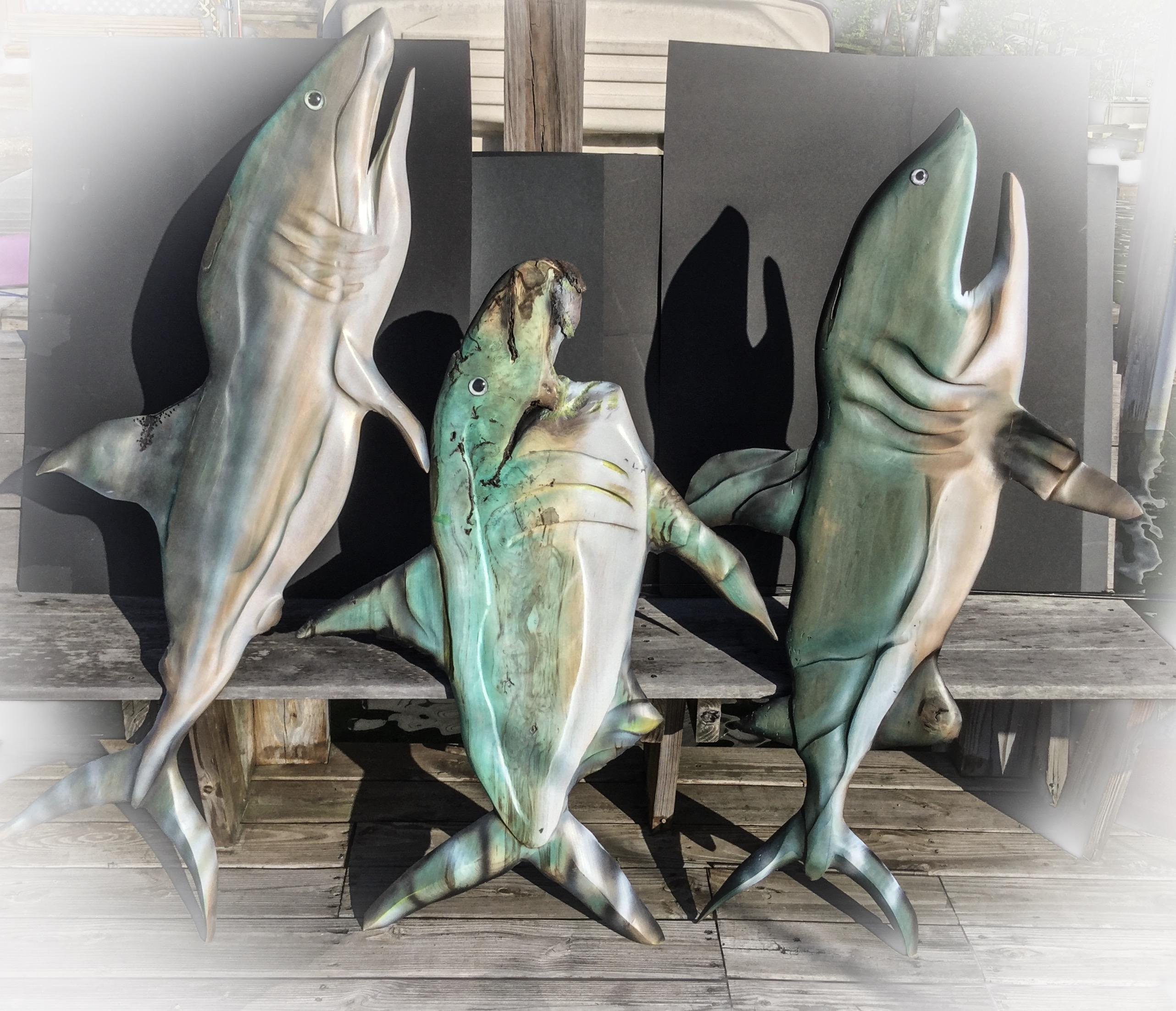 Sharks R side 60'' tall