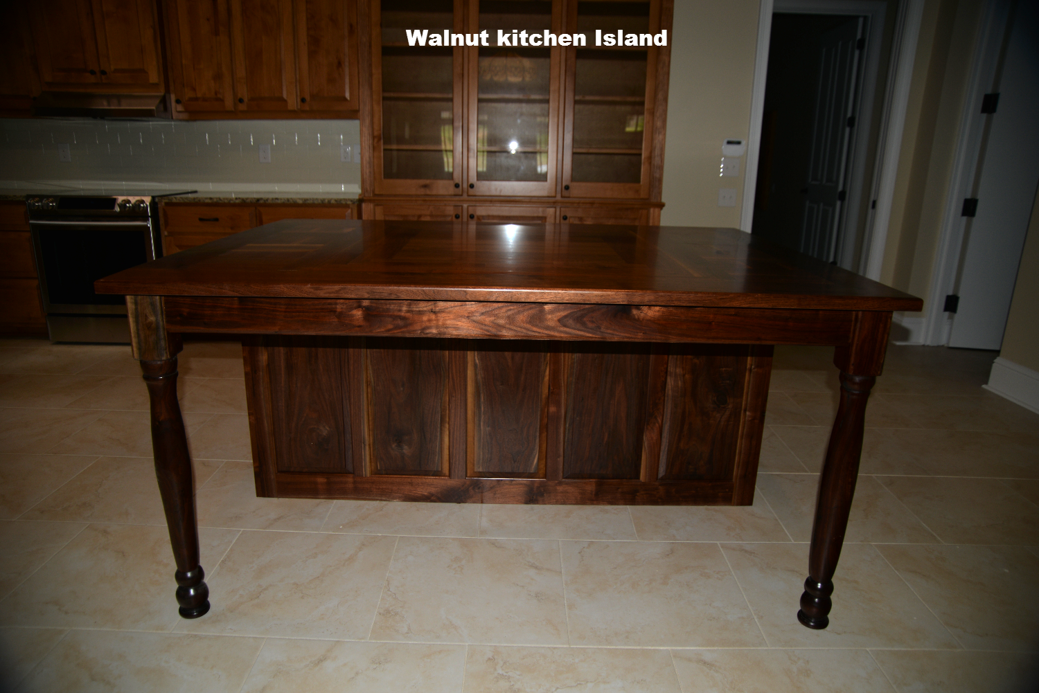 Walnut Kitchen island