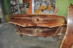 Heats walnut tables  (2)