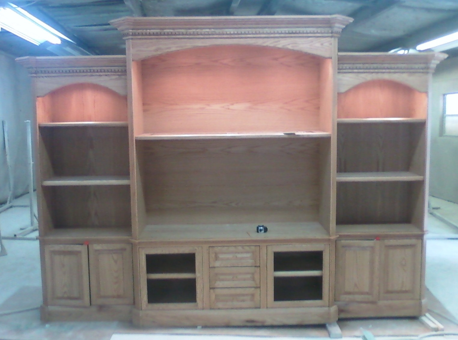 Red Oak entertainment center cabinet