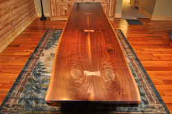 Walnut live edge Conference Table