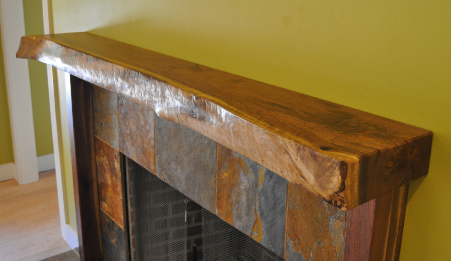 Walnut Mantle (live edge)